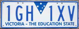 australisches Nummernschild Victoria