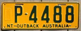 australisches Nummernschild NT