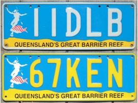 Nummernschilder aus Australien QLD