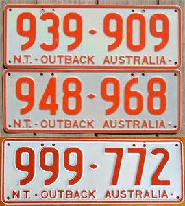 australische Nummernschilder