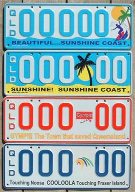Kennzeichen aus Australien QLD
