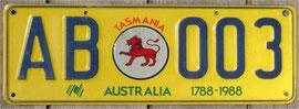 Nummernschild aus Australien Tasmanien