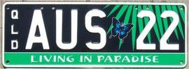 australisches Kennzeichen QLD