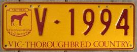 australisches Nummernschild aus Victoria