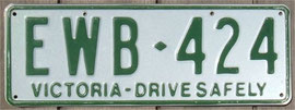 Kennzeichen aus Australien Victoria