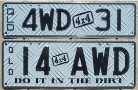 australische Kennzeichen QLD