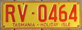 Kennzeichen aus Australien Tasmanien