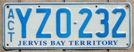 Nummernschild aus Australien Jervis Bay