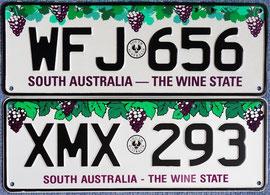 australische Nummernschilder SA