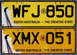 Nummernschilder aus Australien SA