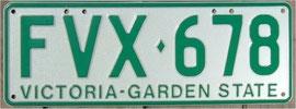 Nummernschild aus Australien Victoria
