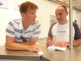 Mathias Fischer im Gespräch mit Tom Kleine