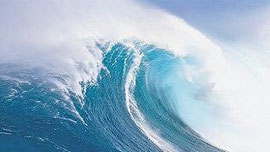 Breaking swell wave