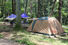 キャンプ場 テントサイト
