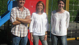De gauche à droite : Pierric Diguet, Solenn Dubot et Hélène Boivert constituent l'équipe pédagogique de l'école