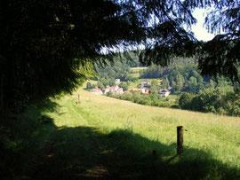 Jockel-Weg, Blick auf Raubach