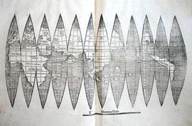 Mapamundi inédito de Waldseemüller. Imagen: Biblioteca de la Universidad de Múnich