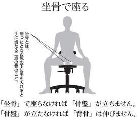 坐骨で座る姿勢はとても大事です