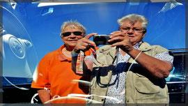 Fotografierfreudige Travelmäuse in Les Rotes (bei Denia) (>Spiegelung)