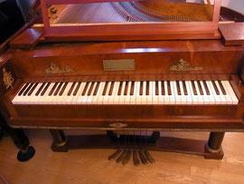 1810~20年頃のフォルテピアノ*なんと、ペダルが6本!!!