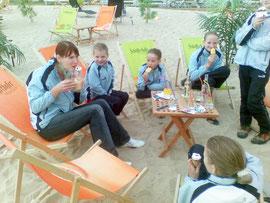Der Georgshof ist beim Poloclub Frankfurt und dem Nidda-Beach-Club, sehr nett!!!