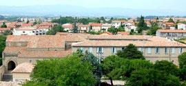 ND de l'Abbaye, rue Trivalle au pied de la cité de Carcassonne/Aude