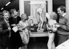 1986 v.l.n.r: Haennes Meyer, Ursula Krupp-Deman, Dorle Schneider, Angele de Couronne, Hans Runte. Nicht auf dem Bild: Prof. Holzhausen