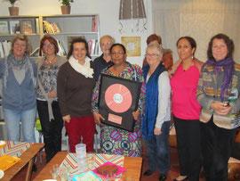 Tagayt Mariama, Elisabeth, Marguerite et quelques adhérents ont dignement fêté le prix Marjolaine
