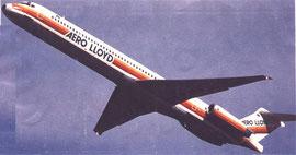 MD-83 im Steigflug/Courtesy: Aero Lloyd