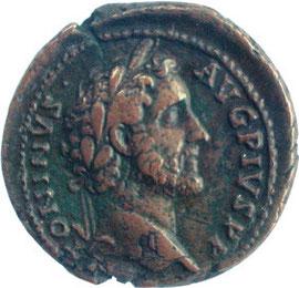 As Antoninus Pius -  Durchmesser 27mm - vgl.  2€ - Münze