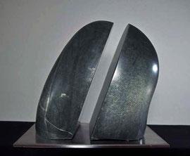 Balance Speckstein Skulptur