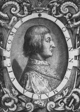 Giovanni Maria Visconti in un'incisione del XVIII secolo