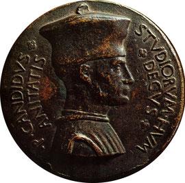 Pier Candido Decembrio in una medaglia di Pisanello
