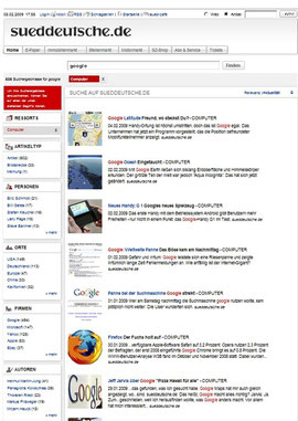 Fast jeden Tag eine Google-News