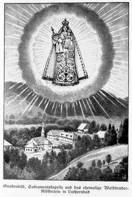 Luthern Bad, Sakramentskapelle, Gnadenbild mit Marienerscheinung