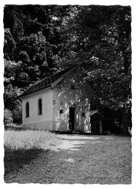 Luthern Bad, Obere Kapelle, Foto Friebel Sursee, Ansichtskarte mit Poststempel Luthern Bad, 27.7.62  (LB 23)