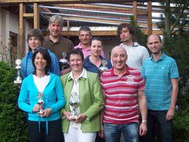 Sieger und Platzierte des Ski-Tennis-Cups 2008.