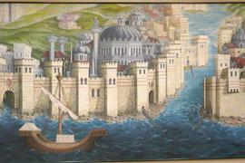 Die Mauern von Konstantinopel (Bild: Archäologisches Museum Istanbul)
