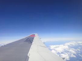 台湾上空あたり