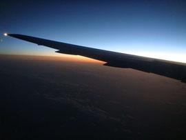 飛行機から見た日の出