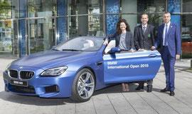 BMW Golfsport Pressekonferenz - Stefanie Wurst, Leiterin Marketing BMW Deutschland, Korbinian Kofler, Geschäftsführer des GC München Eichenried, Marco Kaussler, Turnierdirektor. Foto BMW