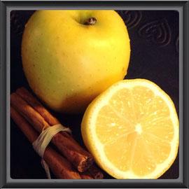 Apfel-Chips, gesunder Snack,