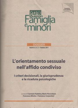 FAMIGLIA E MINORI-Guida al Dirittto- Il Sole 24ore - Inserto al Nr. 2 febbraio '11