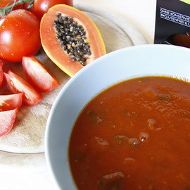 Papaya-Tomaten-Suppe