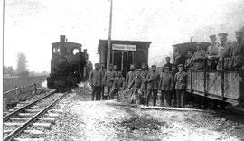 gare des soldats allemands à Malassise
