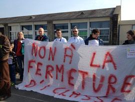 Parents de Virey mobilisés contre la fermeture d'une classe