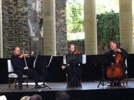 musique de chambre dans la nef de l'Abbaye d'Hambye