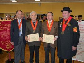 Le Grand Maître Christian Lodiel, avec Jean Andro , Gwenaël Huet et moi-même