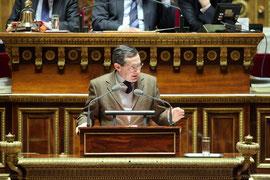 A la tribune du Sénat le 31 Janvier