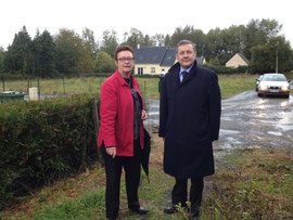 Avec Patricia Lecomte, conseiller général du canton de Bréhal